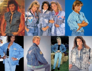 Denim Jackets 80s Fashion Eighties Vintage Fashion